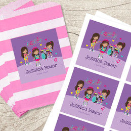 Rock And Roll Band Gift Label Set