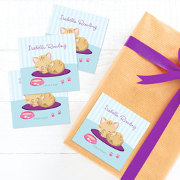 Cute Little Kitten Gift Label Set