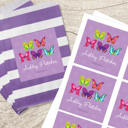 Bright Butterflies Gift Label Set