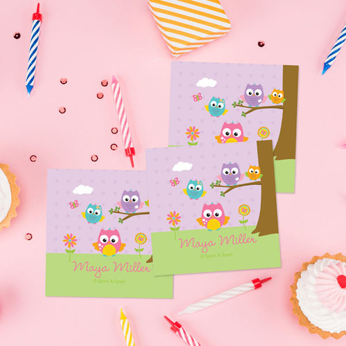 Owls On The Field Gift Label Set