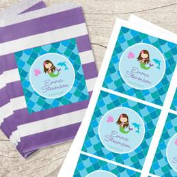 Mermaid Shades Gift Label Set