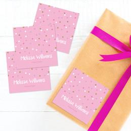 Sweet Glitter Dots Gift Label Set