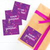 Girly Music Notes Gift Label Set