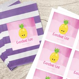 Yummy Pineapple Gift Label Set