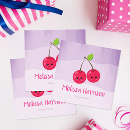 Yummy Cherries Gift Label Set