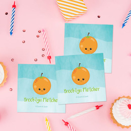 Yummy Orange Gift Label Set