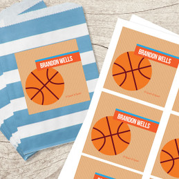 Basketball Fan Gift Label Set