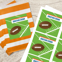 Football Fan Gift Label Set