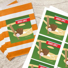Baseball Fan Gift Label Set