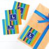 Bold Stripes Gift Label Set