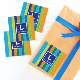 Bold Stripes Gift Label Set