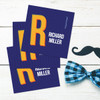 Double Initial - Blue Gift Label Set