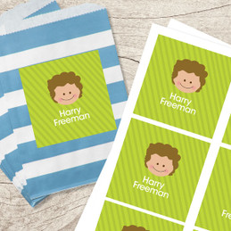 Just Like Me - Boy - Green Gift Label Set