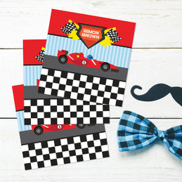 Fast Race Gift Label Set