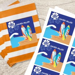 Surf The Waves Gift Label Set