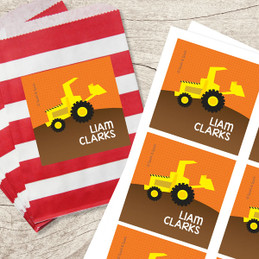 Fun Tractor Gift Label Set