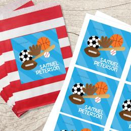 Sports Fan Gift Label Set