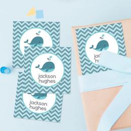 Sweet Little Blue Whale Gift Label Set