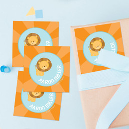 Cute Baby Lion Gift Label Set