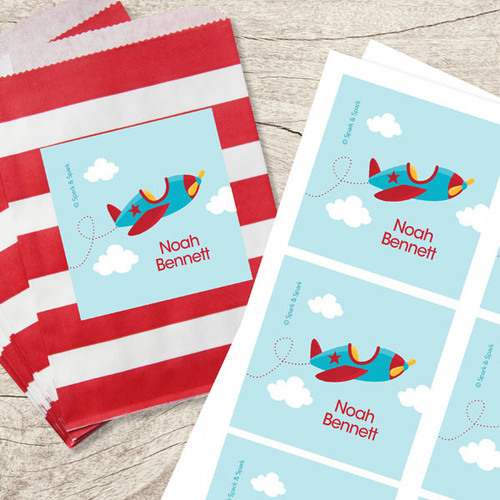 Fly Little Plane Gift Label Set
