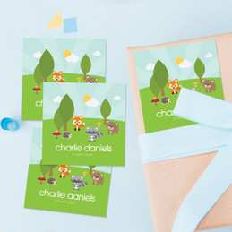 Cute Animals In The Forest Gift Label Set
