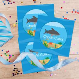 Shark Waves Gift Label Set