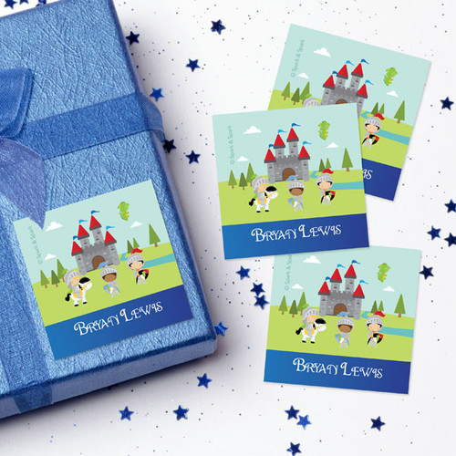 The Three Knights Gift Label Set