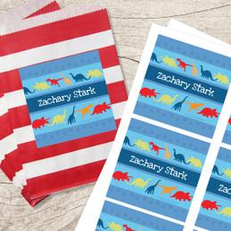 Dinosaur Trails Gift Label Set