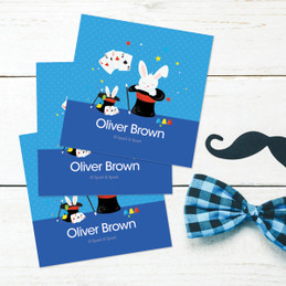 Cute Magician Boy Gift Label Set