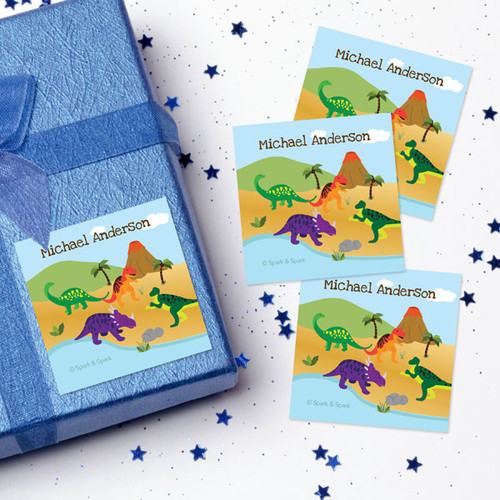Dinosaur In The Jungle Gift Label Set