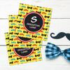 Super Hero Masks Gift Label Set
