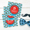 Super Hero Stars Gift Label Set