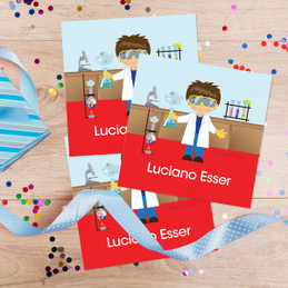Cool Boy Scientist Gift Label Set
