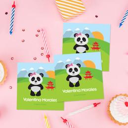 Sweet Panda Bear Gift Label Set