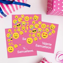 Emoticons for Girls Gift Label Set