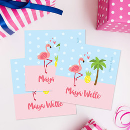 Sweet Flamingo Love Gift Label Set