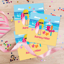 Beach Girl Gift Label Set