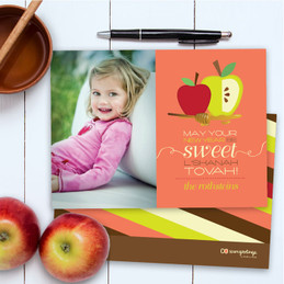 Happy Jewish New Year Cards | Honey Apples With Photo