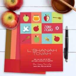Custom Jewish New Year Cards | Sweet Jewish Icons
