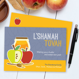 Jewish Holiday Cards | Honey With Apples