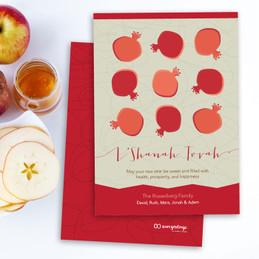 Pomegranate Rows Jewish New Year Card