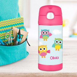 Three Owls Thermos Bottle