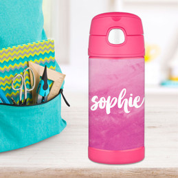 Bold Colorful Name Thermos Bottle