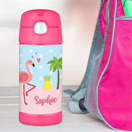 Sweet Flamingo Love Thermos Bottle