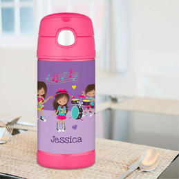 Rock and Roll Band Thermos Bottle