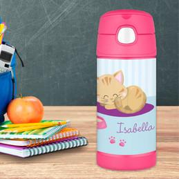 Cute Little Kitten Thermos Bottle