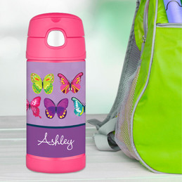 Bright Butterflies Thermos Bottle