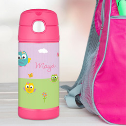 Owls on The Field Thermos Bottle