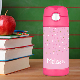 Sweet Glitter Dots Thermos Bottle