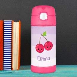 Yummy Cherries Thermos Bottle